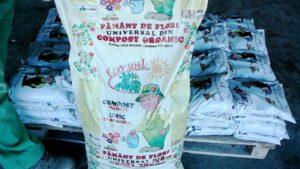 Statia de compostare 7 Pamant de flori